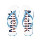 Malik Stars and Stripes Flip Flops