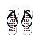 Miami Stars and Stripes Flip Flops