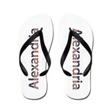 Alexandria Stars and Stripes Flip Flops