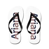 Ariana Stars and Stripes Flip Flops