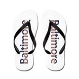 Baltimore Stars and Stripes Flip Flops
