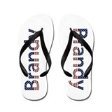Brandy Stars and Stripes Flip Flops