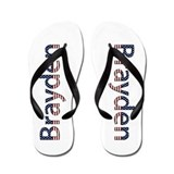 Brayden Stars and Stripes Flip Flops