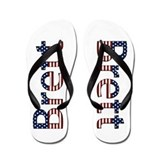Brett Stars and Stripes Flip Flops