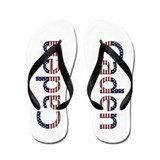 Caden Stars and Stripes Flip Flops