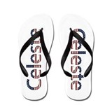 Celeste Stars and Stripes Flip Flops