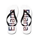 Eliana Stars and Stripes Flip Flops