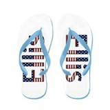 Ellis Stars and Stripes Flip Flops