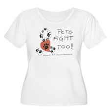 Pets Fight Too Plus Size T-Shirt