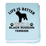 Black Russian Terrier vector designs baby blanket