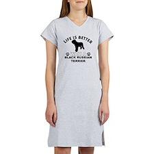 Black Russian Terrier vector designs Women's Night