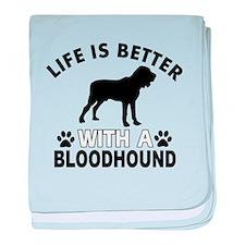 Bloodhound vector designs baby blanket