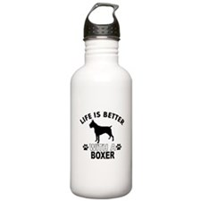 Boxer vector designs Water Bottle
