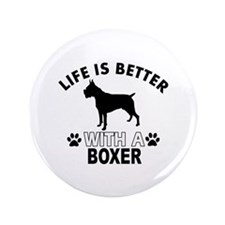 "Boxer vector designs 3.5"" Button (100 pack)"