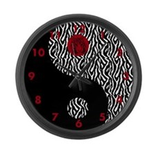 Zebra Large Wall Clock