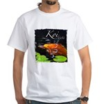 Orange Koi White T-Shirt