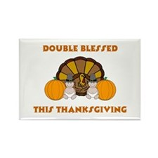 Double Blessed Thanksgiving Rectangle Magnet