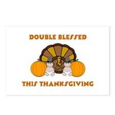 Double Blessed Thanksgiving Postcards (Package of
