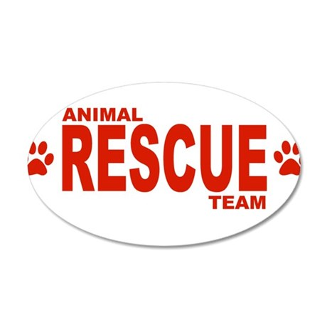 Animal Rescue Team Red Wall Decal
