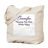 Jennifer - Name Meaning Tote Bag