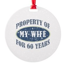 Funny 60th Anniversary Ornament