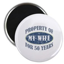 "Funny 50th Anniversary 2.25"" Magnet (100 pack)"