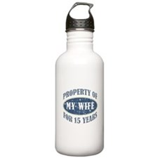 Funny 15th Anniversary Water Bottle