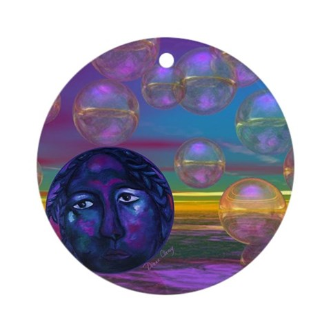 Compassion, Violet Goddess Ornament (Round)