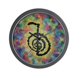 Cho Ku Rei Stained Glass Wall Clock