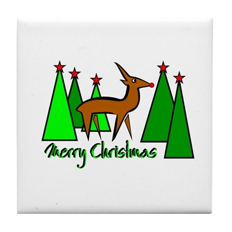 """Merry Christmas"" Tile Coaster"
