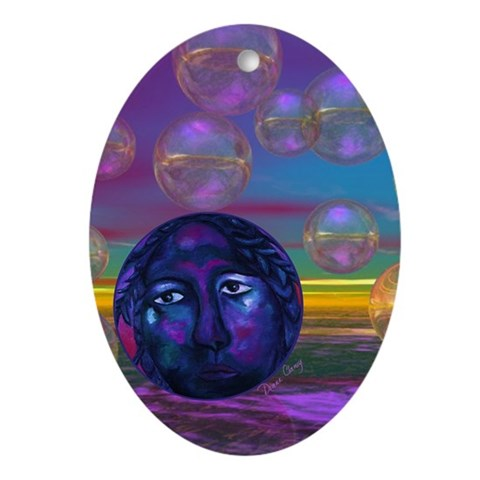 Compassion, Violet Goddess Ornament (Oval)
