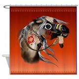 War Horse Framed Trans.png Shower Curtain