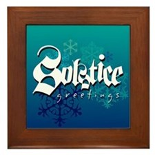 Solstice Greetings Framed Tile