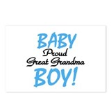 Baby Boy Great Grandma Postcards (Package of 8)