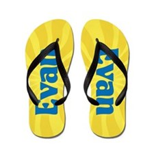 Evan Sunburst Flip Flops