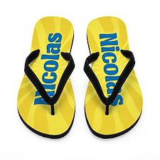 Nicolas Sunburst Flip Flops