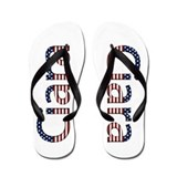 Ciara Stars and Stripes Flip Flops
