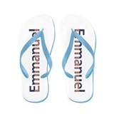 Emmanuel Stars and Stripes Flip Flops