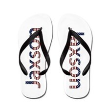 Jaxson Stars and Stripes Flip Flops