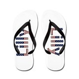 Lilly Stars and Stripes Flip Flops
