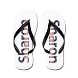 Sharon Stars and Stripes Flip Flops
