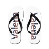 Valeria Stars and Stripes Flip Flops