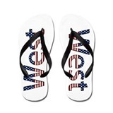 West Stars and Stripes Flip Flops