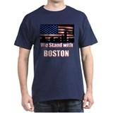 We Stand with Boston T-Shirt (Bold Colors)