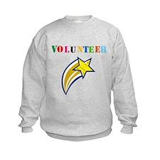 VOLUNTEER TWOSTARS DESIGN. STAR. Sweatshirt