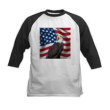 USA flag with bald eagle Baseball Jersey
