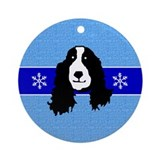 Springer/Cocker Spaniel Ornament (Round)