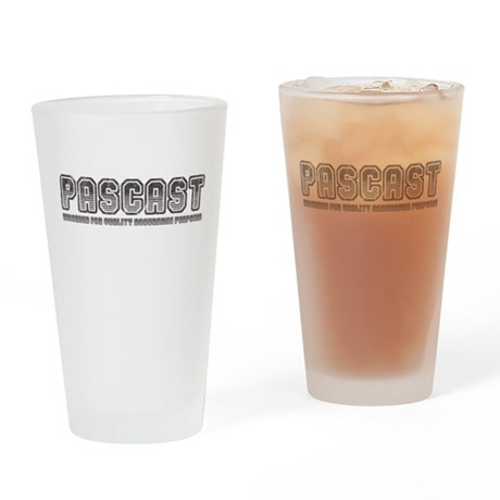 PASCast Logo Drinking Glass