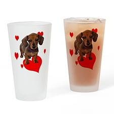 Love Dachshunds Drinking Glass