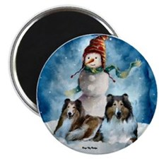 "Rough Collie Christmas Gifts 2.25"" Magnet (100 pac"